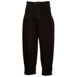 Pantaloni a palloncino jeans delavè