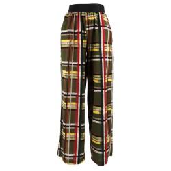 Pantaloni Mabel Verde, senape e multi