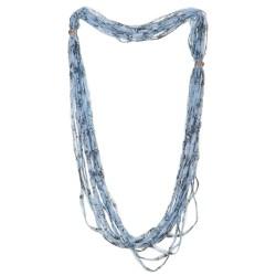 Sciarpa calamita rete azzurro e nero