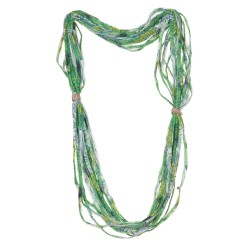 Sciarpa calamita rete verde e blu