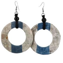 Orecchini Dundas grigio blu