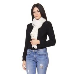 Scialle maglia traforata zig zag