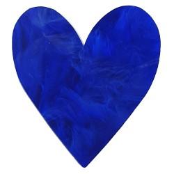 Anello cuore maxi blu
