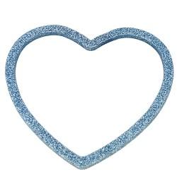 Bracciale cuore glitter azzurro