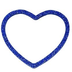 Bracciale cuore glitter bluette