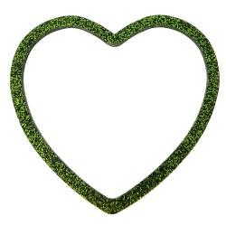 Bracciale cuore glitter verde