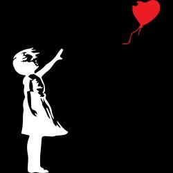 T-Shirt a V Donna Banksy