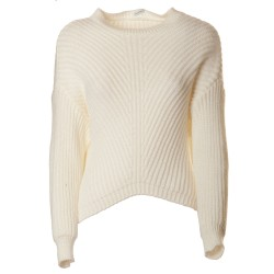 Maglione a coste in sbieco
