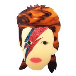 Spilla David Bowie - glitter