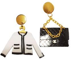 Orecchini pendenti Chanel tracolla e giacca