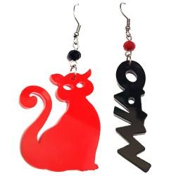 Orecchini pendenti gatto e miao