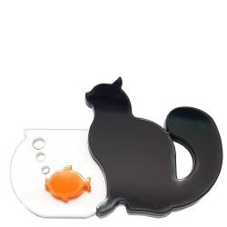 Spilla Gatto boccia pesce rosso