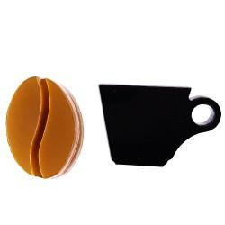 Orecchini cerchio tazza chicco