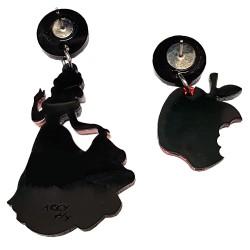 Orecchini pendenti Biancaneve mela