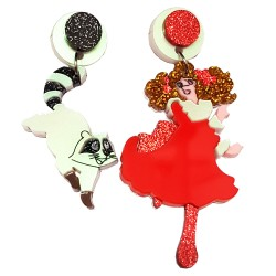Orecchini pendenti Candy Candy procione Kurin