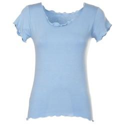 T-Shirt basica azzurro