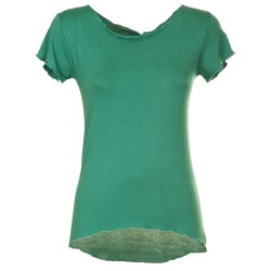 T-Shirt basica tiffany scuro