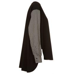 Casacca elasticizzata con maniche a pois