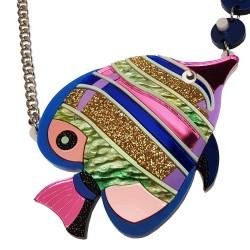 Collana Mare Pesce tropicale bu e viola