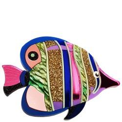Spilla Mare Pesce tropicale bu e viola