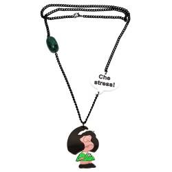 Collana Mafalda nero e verde