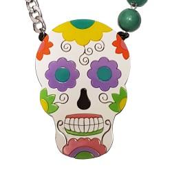 Collana Skull messicano multicolor