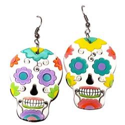 Orecchini pend. monach. skull messicani