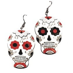 Orecchini pend. monach. skulli messicani