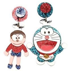 Orecchini pendenti gatto Doraemon Nobita Nobi