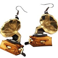 Orecchini pendenti Grammofono