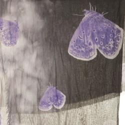 Pashmina in bambù farfalle lilla