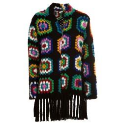 Giacca maglia multicolor