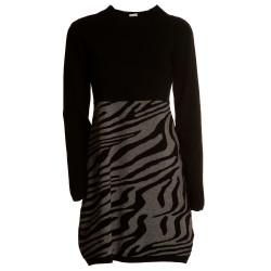 Abito maglia con zebra